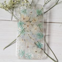 Handmade Pressed Flowers iphone 5 5s 5c iphone 6 case cover hydrangea flowers