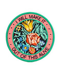 You can do this, with flowers and determination.Collaboration between Stay Home Club and Allison Weiss.Embroidered patch designIron-on backingDetailed, high-density embroideryMerrowed edge stitchingMeasurements: diameterBy Stay Home Club Cool Patches, Pin And Patches, Iron On Patches, Jacket Patches, Diy Patches, Barbie, Patch Design, Back Patch, Edge Stitch