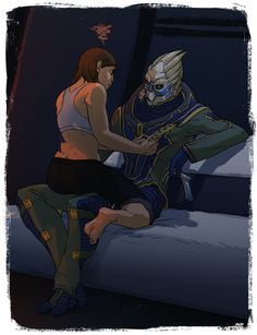 Apparently in a lot of people's headcanons Garrus is not very gentle with clothing?? Well. I CAN TELL YOU WHO TEARS THE PANTS IN THIS RELATIONSHIP.