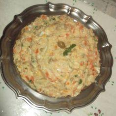 Salada de maionese com palmito