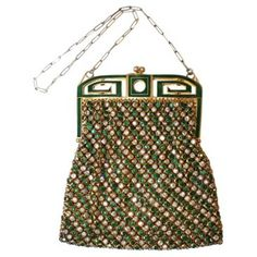 Check out this item at One Kings Lane! 1920s French Bezel-Set Rhinestone Purse