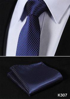 "TS2002Y7 Yellow Navy Blue Stripe 2.75"" 100%Silk Woven Slim Skinny Narrow Men Tie Necktie Handkerchief Pocket Square Suit Set"