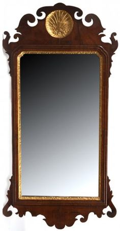 Period Carved Chippendale Mirror : Lot 97