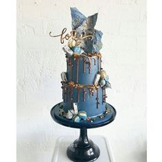 Here is the final result - thank you for allowing us full artistic licence to create you a special cake for your birthday! We hope you enjoyed it *love the custom cake topper by Gorgeous Cakes, Pretty Cakes, Cute Cakes, Amazing Cakes, 40th Cake, Dad Cake, Bolo Sofia, Drippy Cakes, Drizzle Cake