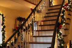 Cool Christmas Stairs Design