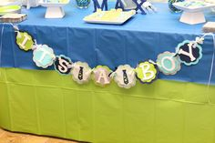 """Photo 21 of 31: Lime Green & Aqua Blue Necktie Little Man Shower / Baby Shower/Sip & See """"A Baby Shower Fit for a Little Gentleman"""" 
