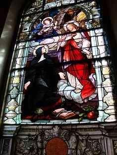 Stained glass window at the Old Cathedral