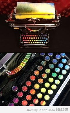 Painting typewriter