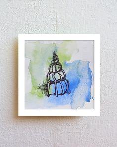 OOAK, Shell Art, Shells, Boho Art, Bohemian, Ocean, Seashells, Drawing, Sketch, Pen Drawing, Ink Drawing, Fine Art, Pen and Ink Art