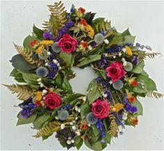 Wreaths For Door - Rose Garden Dried Wreath