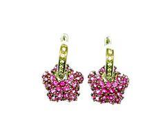 18K White Gold Pink Sapphire / Diamond by Mondi47 on Etsy, $1850.00