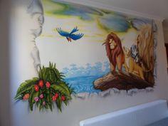 Lion King nursery mural #lionking #nurserymural #mural Oroszlán Király falfestés, gyerekszoba festés #oroszlánkirály #falfestés #gyerekszobafestés #babaszobafestés