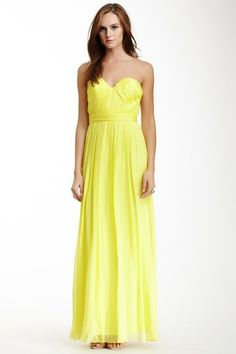 Strapless Shirred Bodice Gown by A.B.S. on @HauteLook