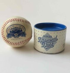 Go Dodgers!  Dodger Stadium Baseball & Diamond Dust Vtg 1987 MLB 25th Anniv. #LosAngelesDodgers #DiamondDust #Dodgers
