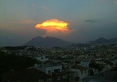 nubes CumuloNimbus en la Zona Citrícola de Nuevo León, Mexico