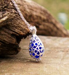 Recycled Antique Bottle Silver Filigree Teardrop Necklace on Ethical Ocean ($29.00) #recycled #jewelry #eco