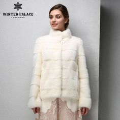 Genuine Leather,Mandarin Collar,Warm white mink coat,Young women mink fur coat  #fashionshow #streetfashion #goodnight #fashionpost #glam #igdaily #fashiondesigner #fashionlover #design #moda