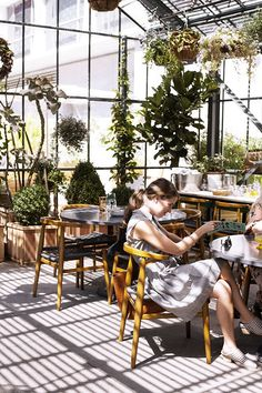Green house - commissary at the line hotel - Roy Choi's vegetable-centric restaurant (via designlovefest)