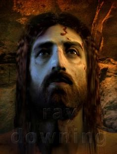 Jesus Resurrected by Ray Downing of Studio Macbeth. He depicts the face of Jesus from the Shroud of Turin via computer. (The Face OF Jesus~The History Channel) Jesus Face, God Jesus, Coast To Coast Am, Christ Is Risen, Religion Catolica, Biblical Art, Jesus Pictures, Heaven Pictures, Religious Art