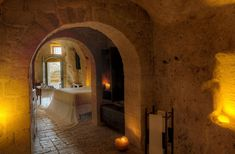 The Italian Hotel built inside Abandoned Medieval Grottos