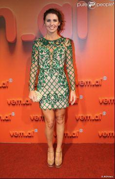 Looks dos famosos na festa 'Vem aí', da TV Globo: Grazi Massafera foi com um vestido comprado em um brechó em Nova York. O scarpin Louboutin e joias de Mario Pantalena complemetam o visual