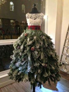 Fashion and Christmas tree dresses