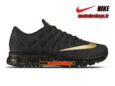 Boutique Officiel Nike Air Max 2016 (Nike iD) - De Running Homme Noir/Anthracite/Or métallique 839367-991