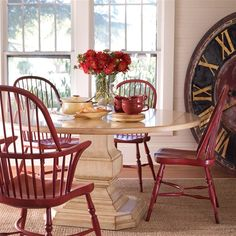 layla grace table w/ red chairs