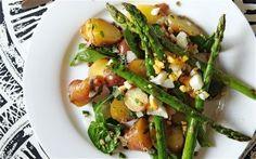 Roasted Potato, Lentil, Asparagus Salad