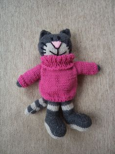 Knitted cat. Made by Hand to Hand Tigre - Tejidos