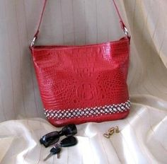 Red Croc with Crystal & Silver Bling Concealed-Carry Tote Purse - GunGoddess.com. http://www.gungoddess.com/concealed-carry-purses/