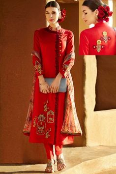 #Venetian Red Nylon Chiffon Embroidered Festival #PantKameez Sku Code:223-5224SL420365 US $ 75.00 http://www.sareez.com/product_info.php?products_id=164841