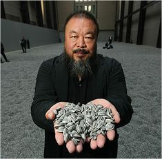 "AI Wei Wei. Read a rare interview and he was quoted to be the Chinese Andy Warhol, he replied ""No, Andy Warhol is the americanised Ai Wei Wei."" Brilliant."