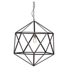Joss&Main - $255 amethyst pendant, hexagon lamp, chandelier, industrial feel