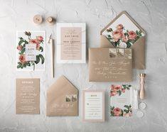 Botanical wedding invitations. Simple and beautiful. Modern calligraphy art #weddingideas