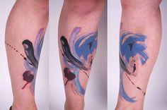 Tattoos that look like Splashed Colors by Amanda Wachob (14 Pictures) > Design und so, Fashion / Lifestyle, Film-/ Fotokunst, Netzkram, Streetstyle > art, blurs, brooklyn, colors, New York, splattering, tattoos