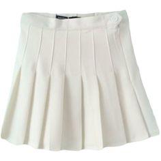 School Style Mini Skirt ($35) ❤ liked on Polyvore featuring skirts, mini skirts, dresses, mini skirt, short mini skirts and short skirts