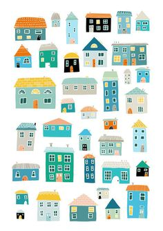 """More cute little houses - there's even a duplex (or """"side-by-side home"""") in these ones!"""