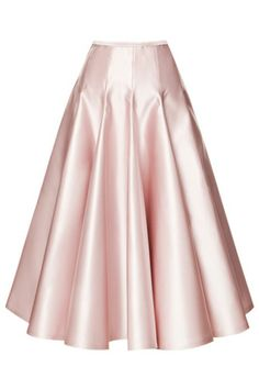 Shop Duchesse Satin A-Line Skirt By Rochas Now Available On Moda Operandi Pink Pleated Skirt, Satin Skirt, Dress Skirt, Dress Up, Pink Skirts, Ruffle Skirt, Mode Outfits, Mode Style, Flare Skirt
