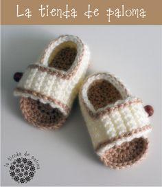Crochet baby boy sandals