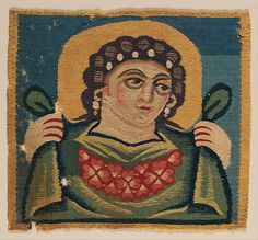 Tabula (Square) with the Head of Spring, 5th–7th century. Egypt. The Metropolitan Museum of Art, New York. Gift of George F. Baker, 1890 (90.5.848) #spring