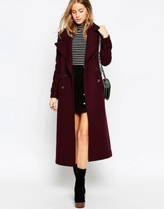 ASOS   ASOS Maxi Military Coat with Contrast Buttons Manteau Long, Mode  Online, Winter 2730092251