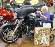 """I found this photo with the caption- """"Nearly 100 and still wants to ride."""" I have no idea where I found it or who it is, despite attempts at research. Either way- awesome lady.  If anyone has info, please let me know."""