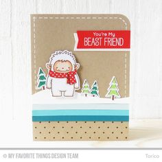 Beast Friends Stamp Set and Die-namics, Swiss Dots Background, Snow Drifts Die-namics, Blueprints 20 Die-namics -  Torico  #mftstamps