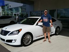 """""""Kenny was great! He mad a usually negative buying experience a very pleasant one! I'll be back to buy my F-250 and will be visiting Kenny again!"""" We're happy to hear that Kenny could ensure you had a great visit Mr. Ferguson! We hope you are enjoying your brand new 2015 Hyundai Equus and we can't wait to see you again! And please, if there's anything we can do, don't hesitate to ask… We're here to help! #LakelandAutomall #LakelandHyundai #HyundaiEquus #2015Equus #Hyundai"""