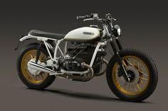 RocketGarage Cafe Racer: Bmw R100RS Corona Motorcycles... what a white (vanilla would work) frame and tank goes.