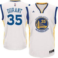 Kevin Durant Youth Golden State warriors Home White Replica Screen Print  Jersey 376b7344935