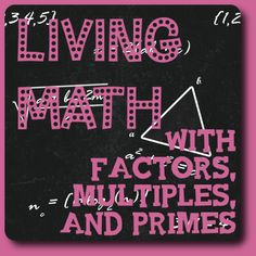 Activities for factors, multiples, and primes