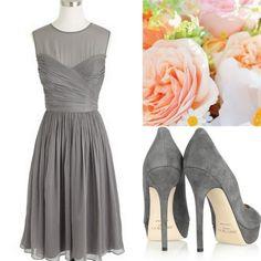 Bridesmaid:+Style,+Inspiration,+Design,+Gray,+Bridesmaid+Dress+Ideas