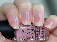 Light pink French manicure